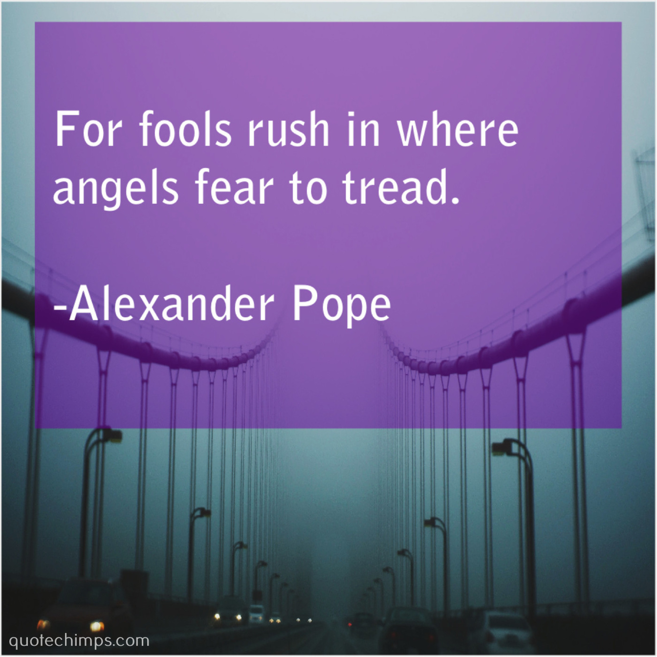 Alexander Pope For Fools Rush In Where
