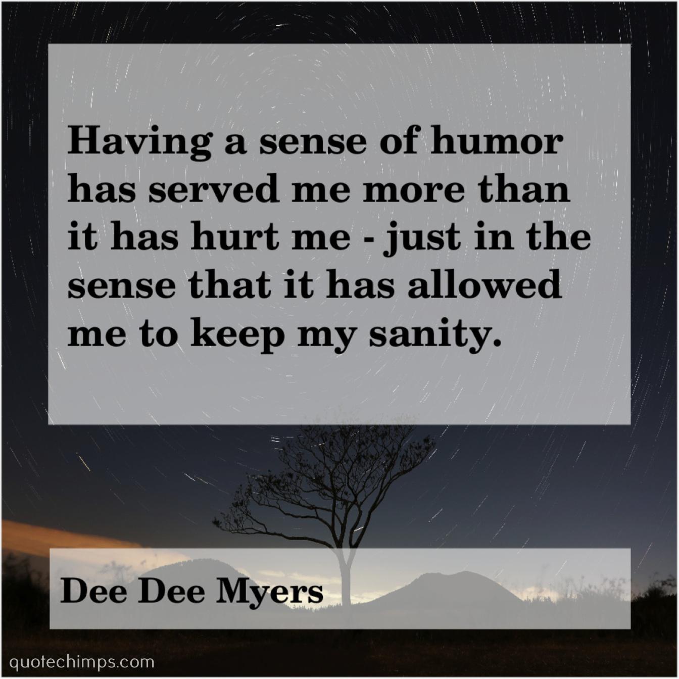 Dee Dee Myers Having A Sense Of Humor