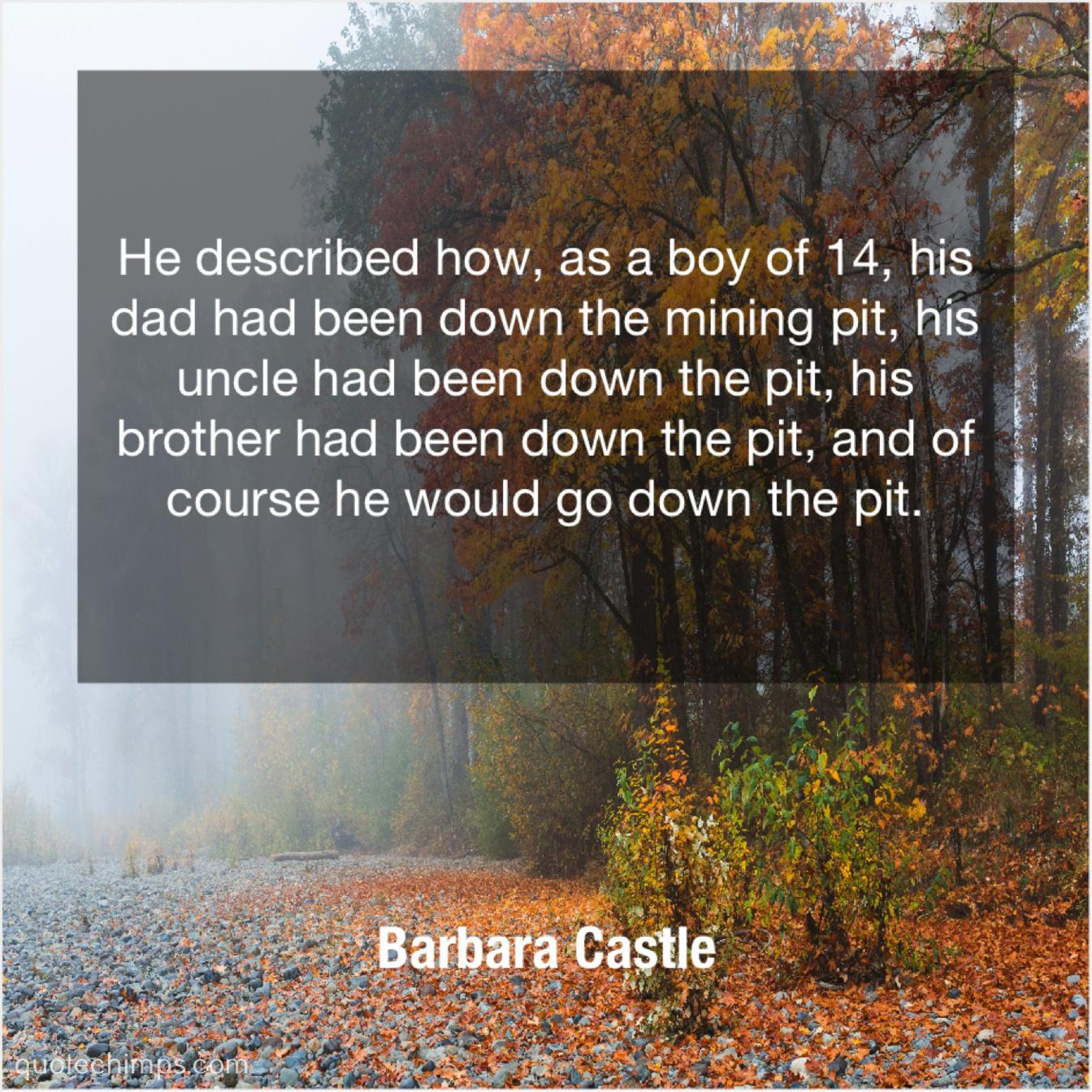 barbara castle quote chimps