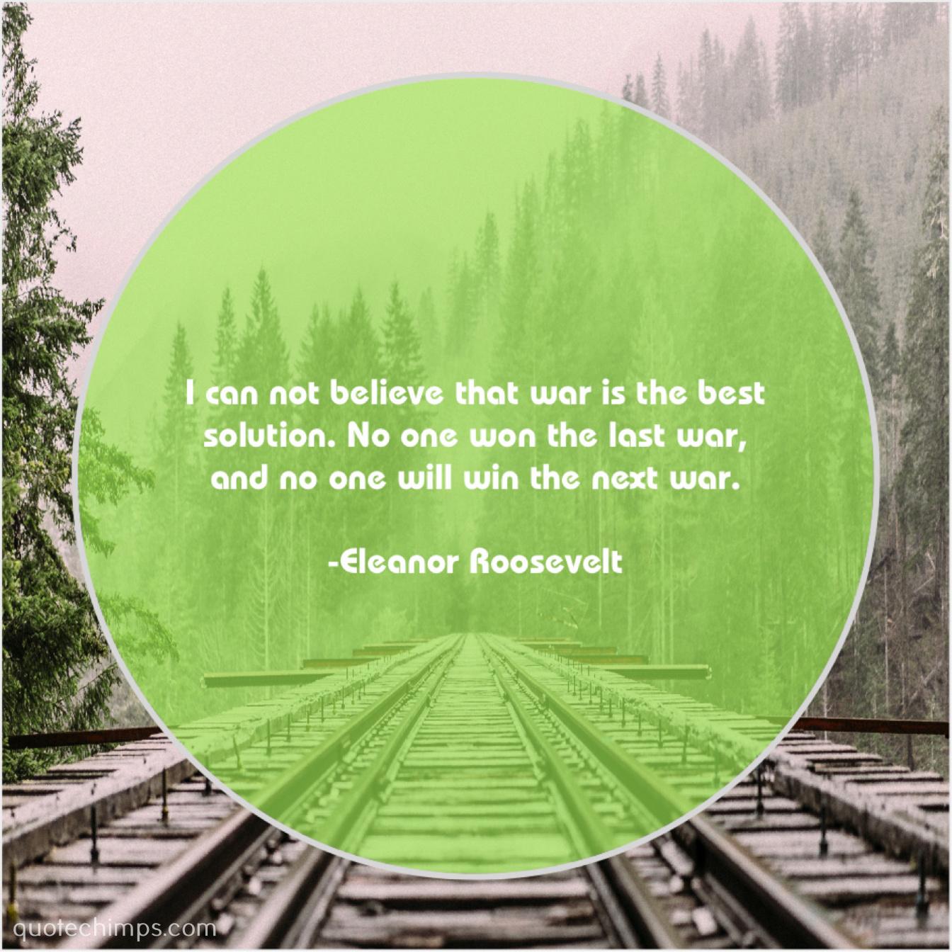 Eleanor Roosevelt | | Quote Chimps