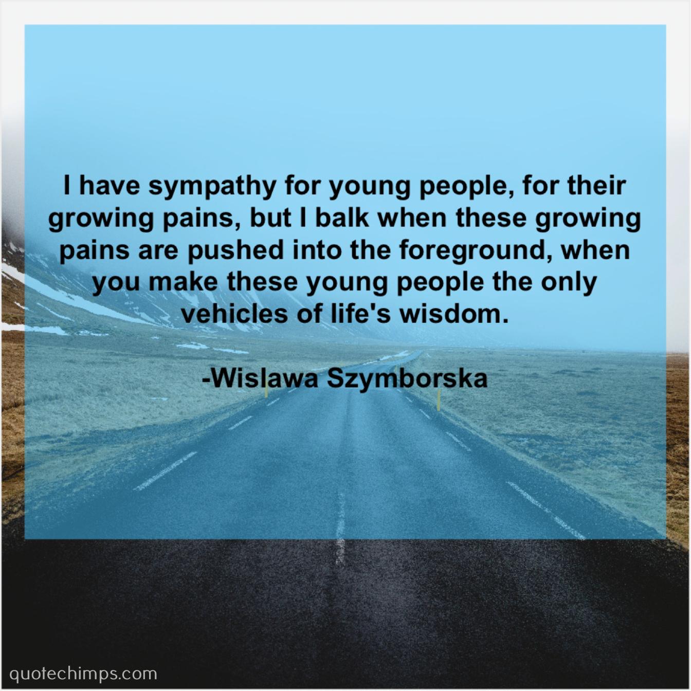 Wislawa Szymborska Quote Chimps