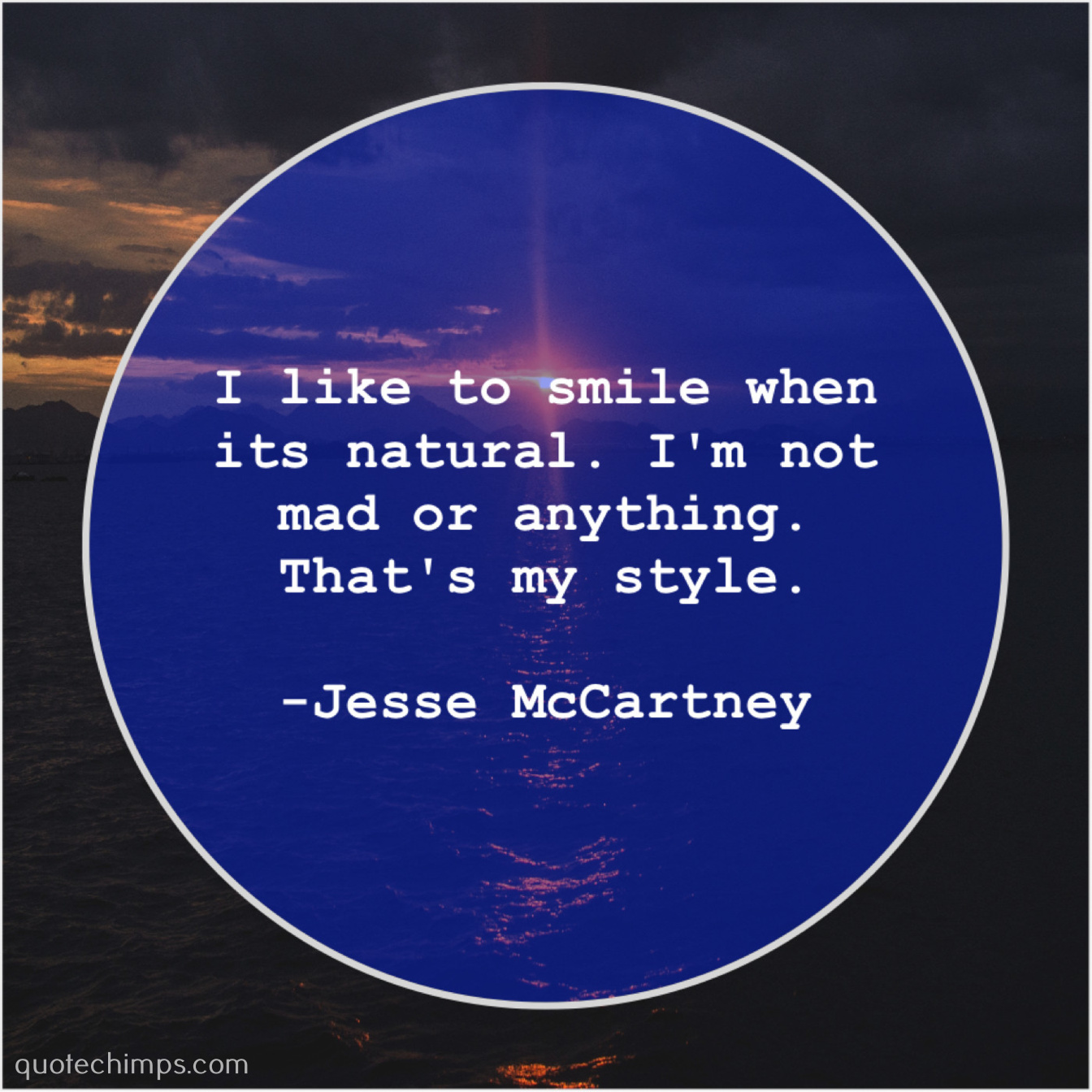 "47e577ce2b9e7 ""I like to smile when its natural. I'm not mad or anything. That's my style.""  -Jesse McCartney"