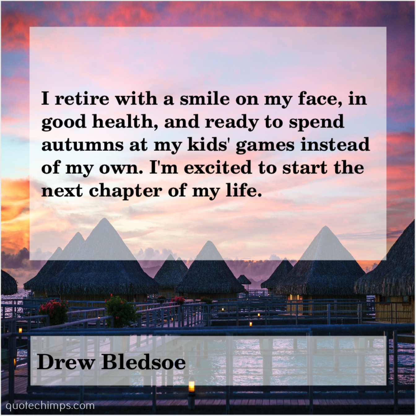 Drew Bledsoe Quote Chimps