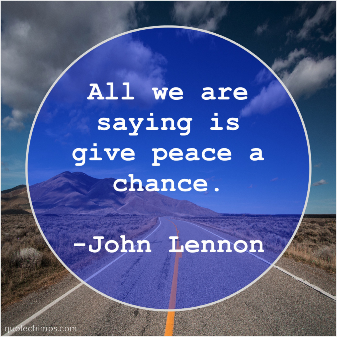 John Lennon All We Are Saying Is Quote Chimps