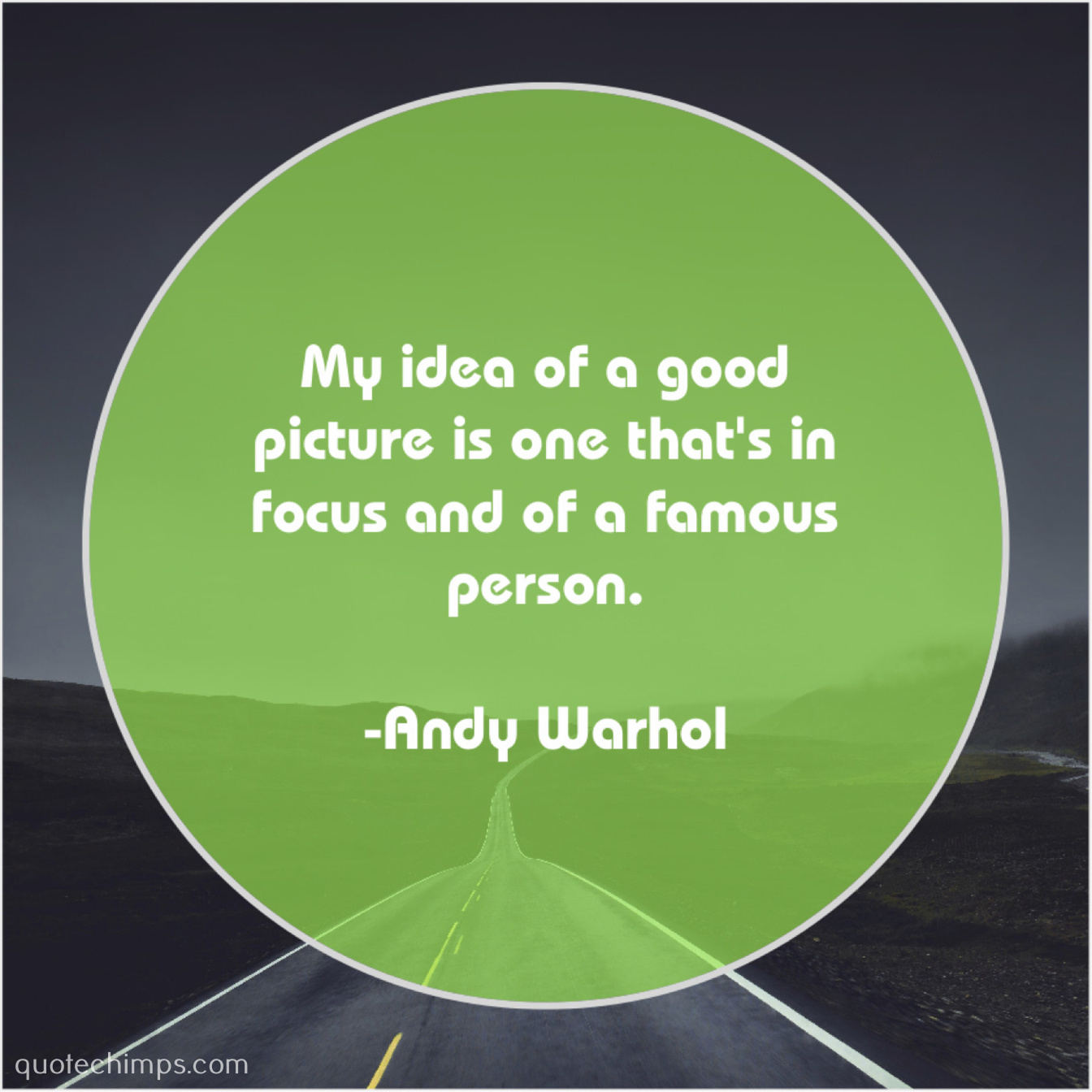 andy warhol my idea of a good quote chimps