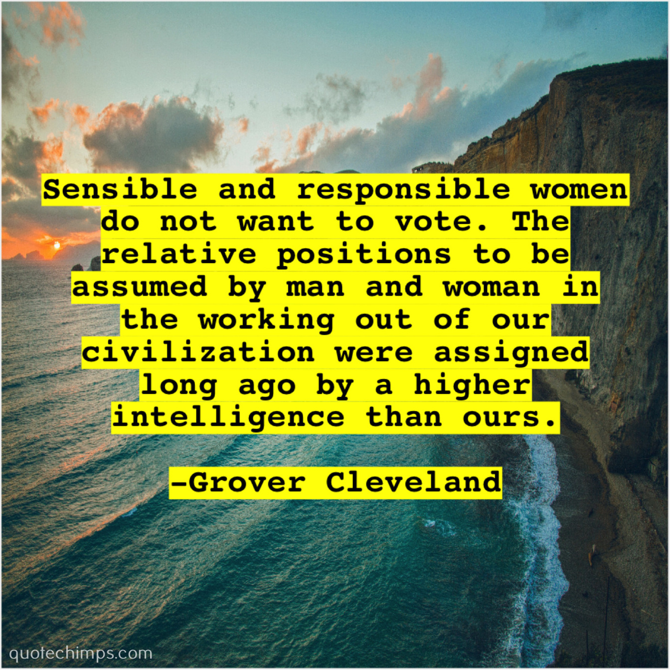 Grover Cleveland Sensible And Responsible Women Do