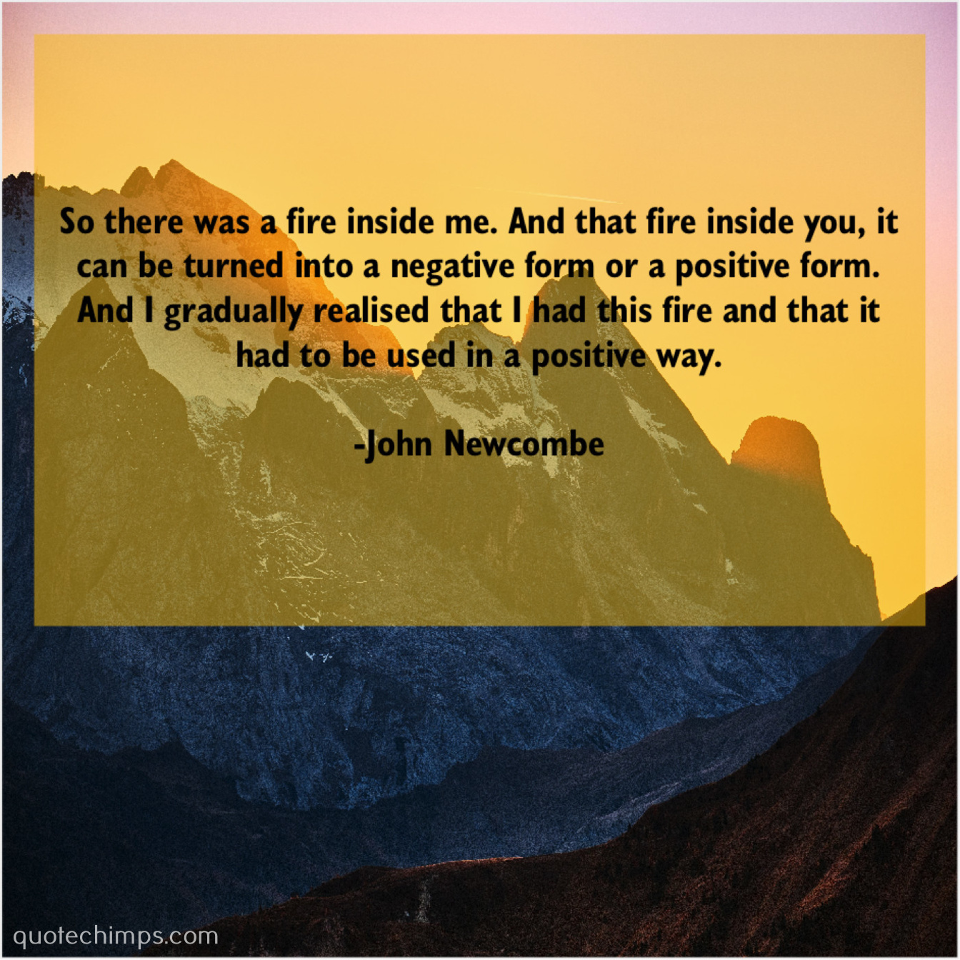 John Newcombe So There Was A Fire