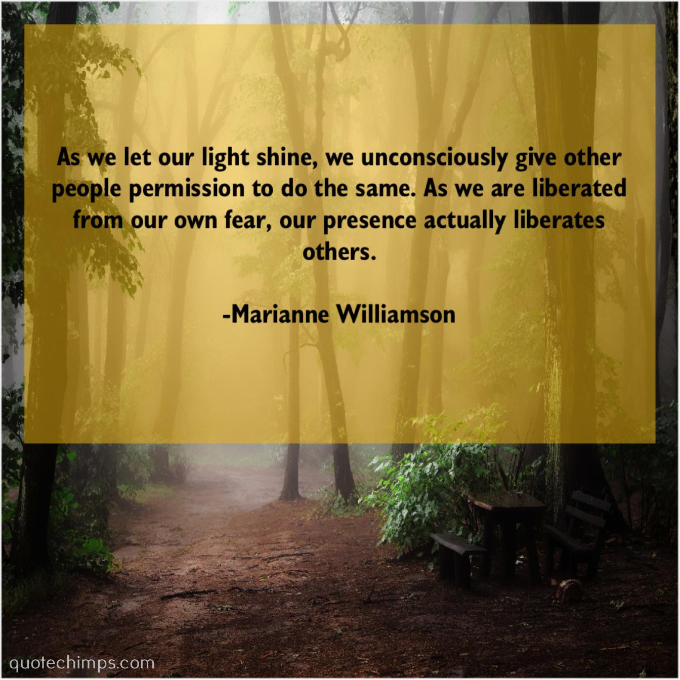 Marianne Williamson Quote Chimps