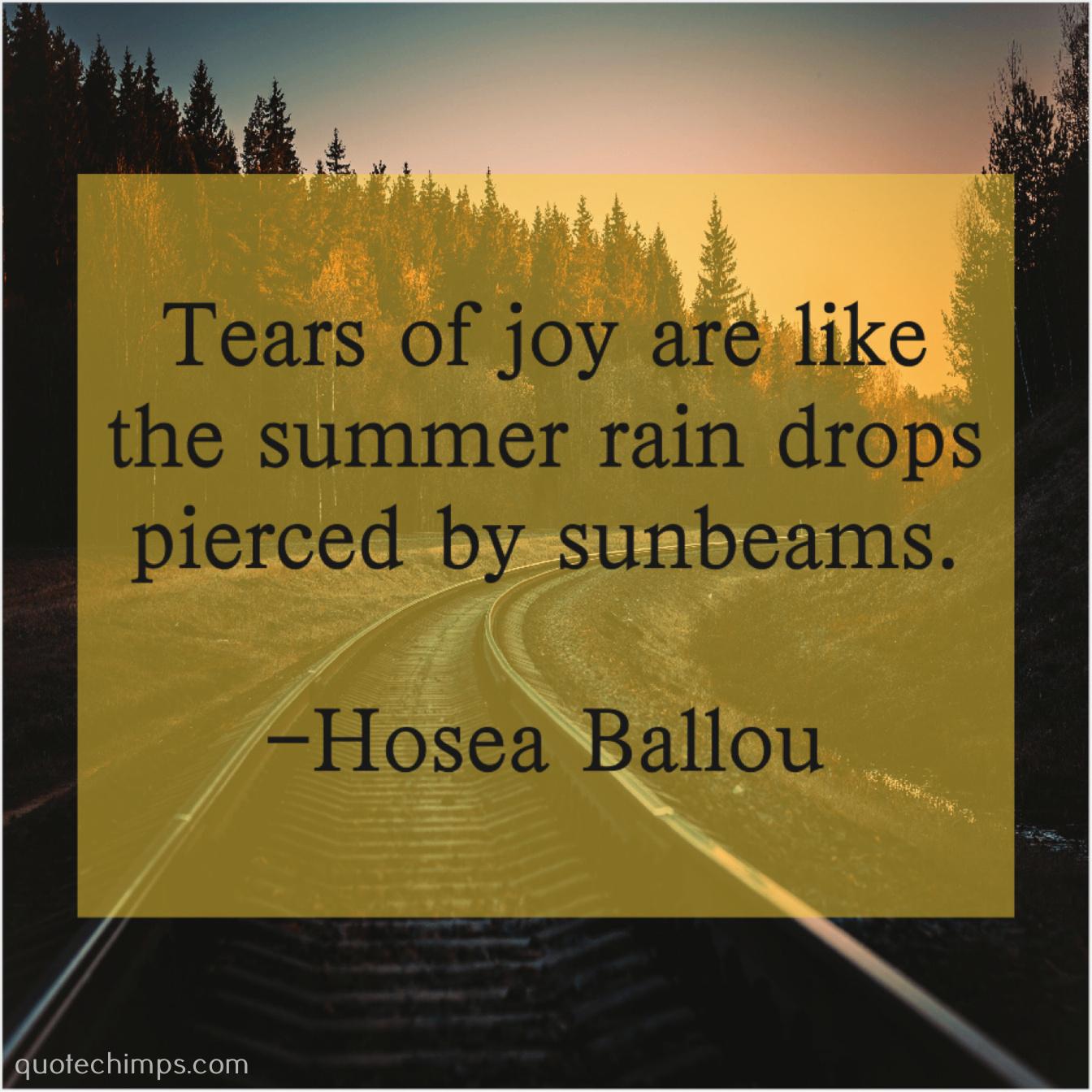 Hosea Ballou Tears Of Joy Are Like
