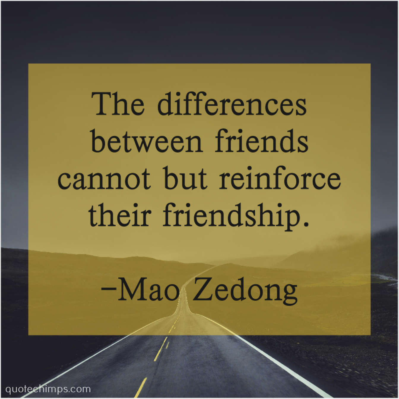 mao zedong the differences between friends cannot quote chimps