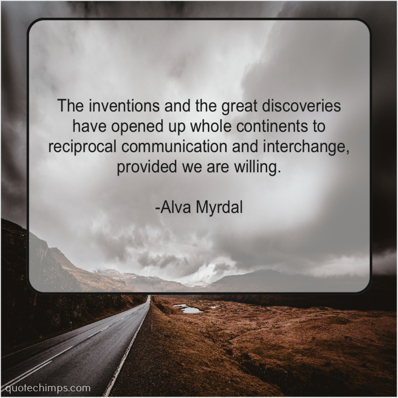 Alva Myrdal The Inventions And The Great Quote Chimps