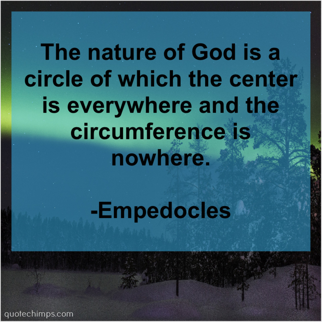 empedocles the nature of god is quote chimps
