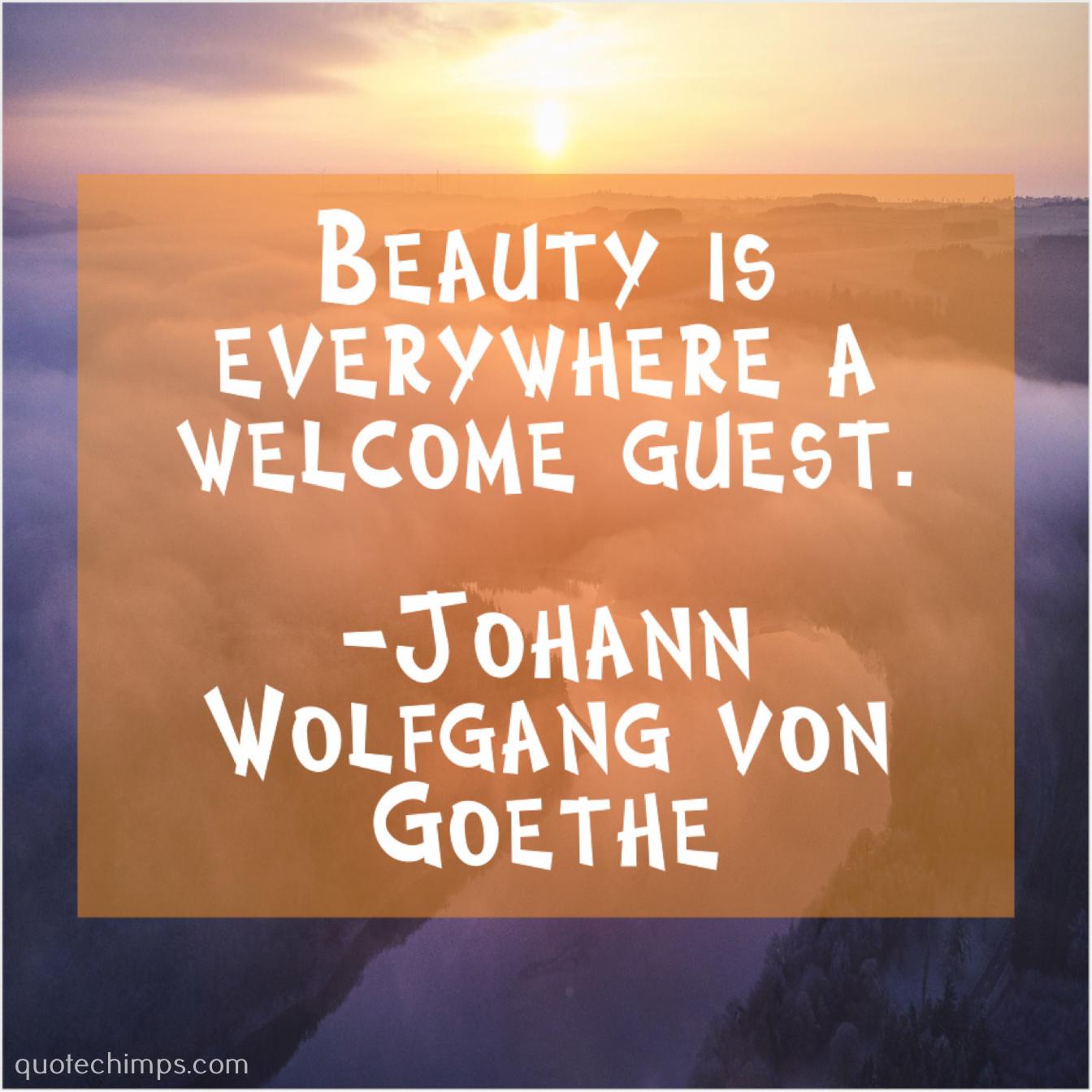 Johann Wolfgang Von Goethe Beauty Is Everywhere A Welcome