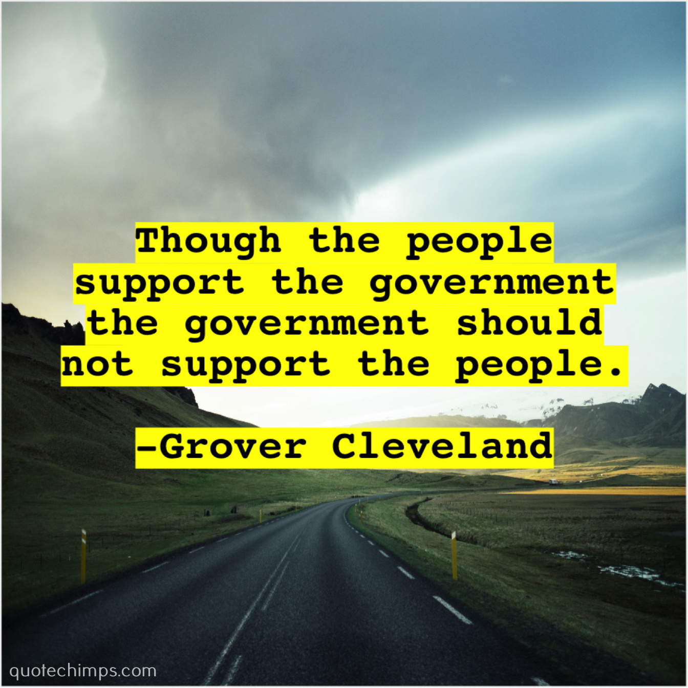 Grover Cleveland Quote Chimps