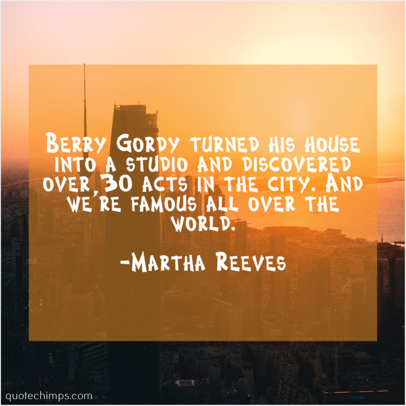 Martha Reeves Quote Chimps
