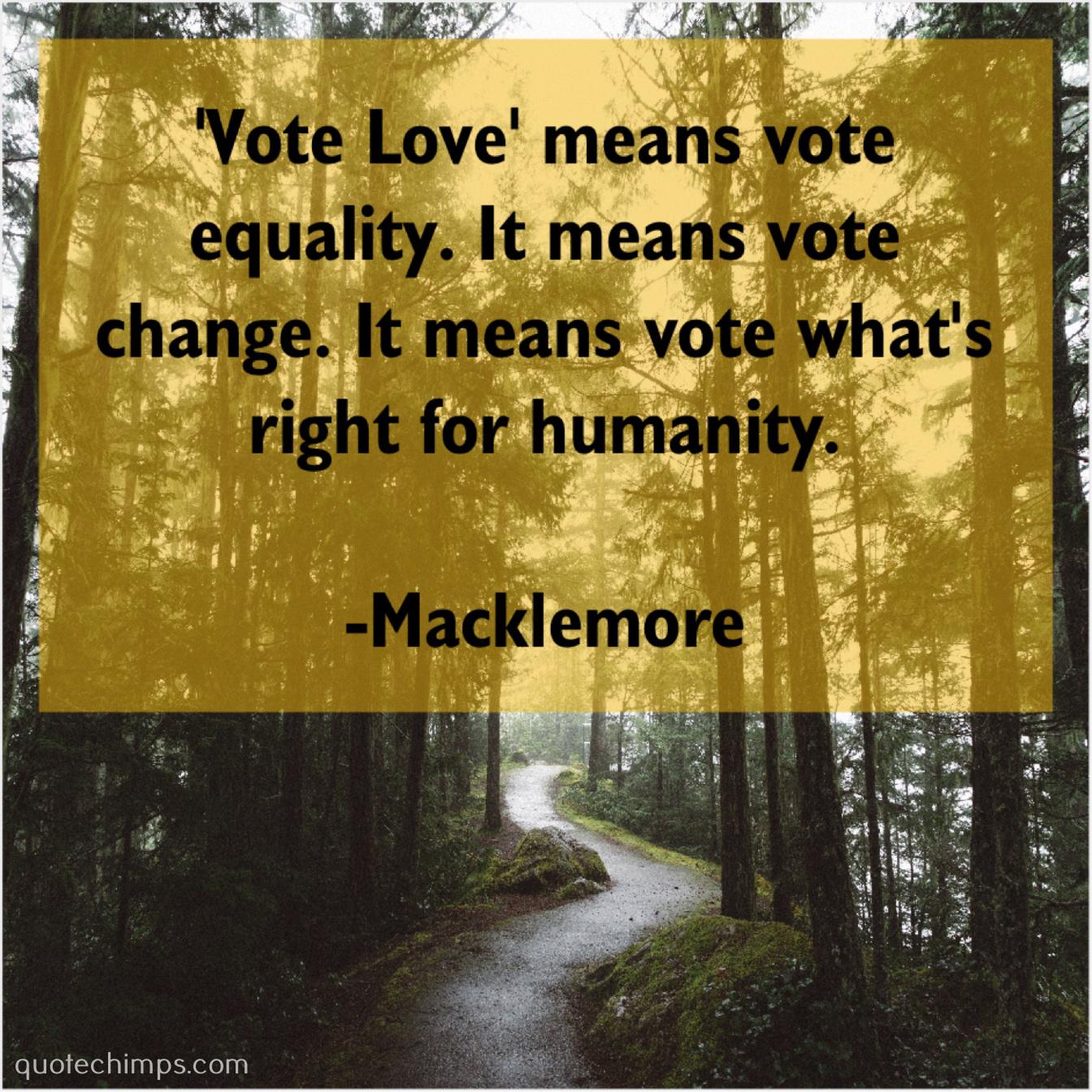 Macklemore Vote Love Means Vote Equality