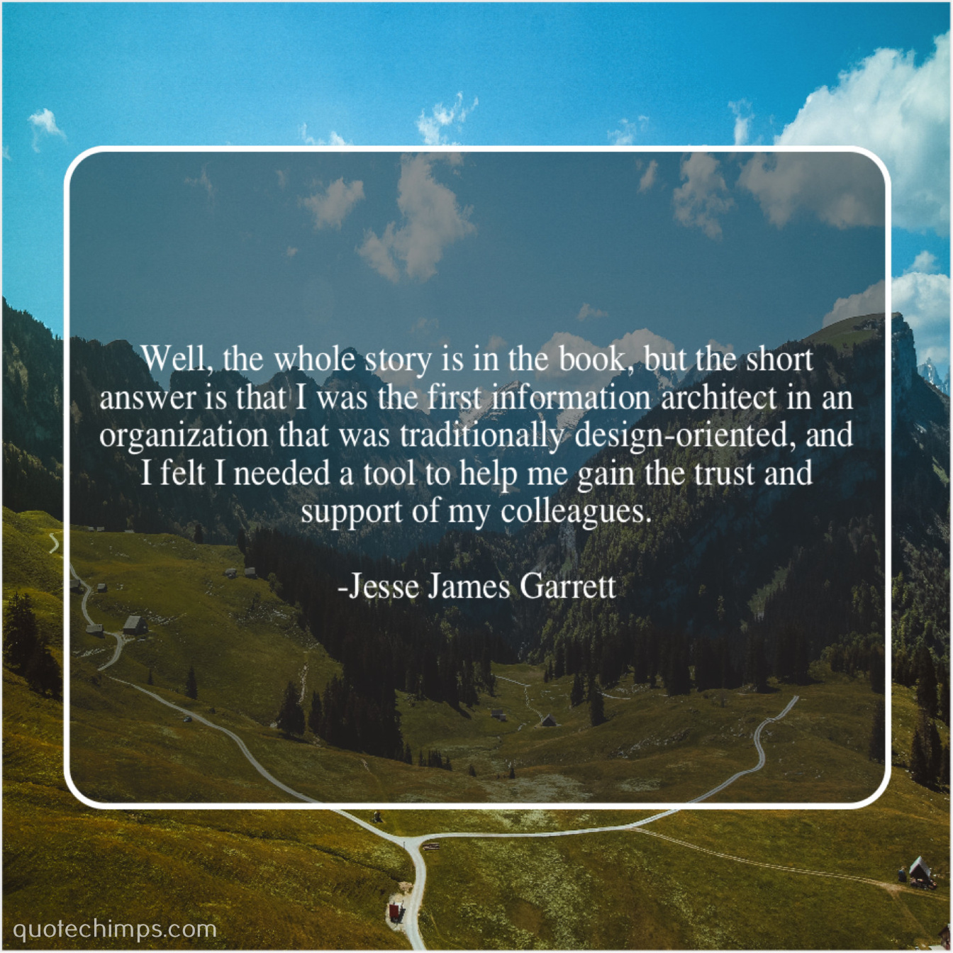 Jesse James Garrett Well The Whole Story Is