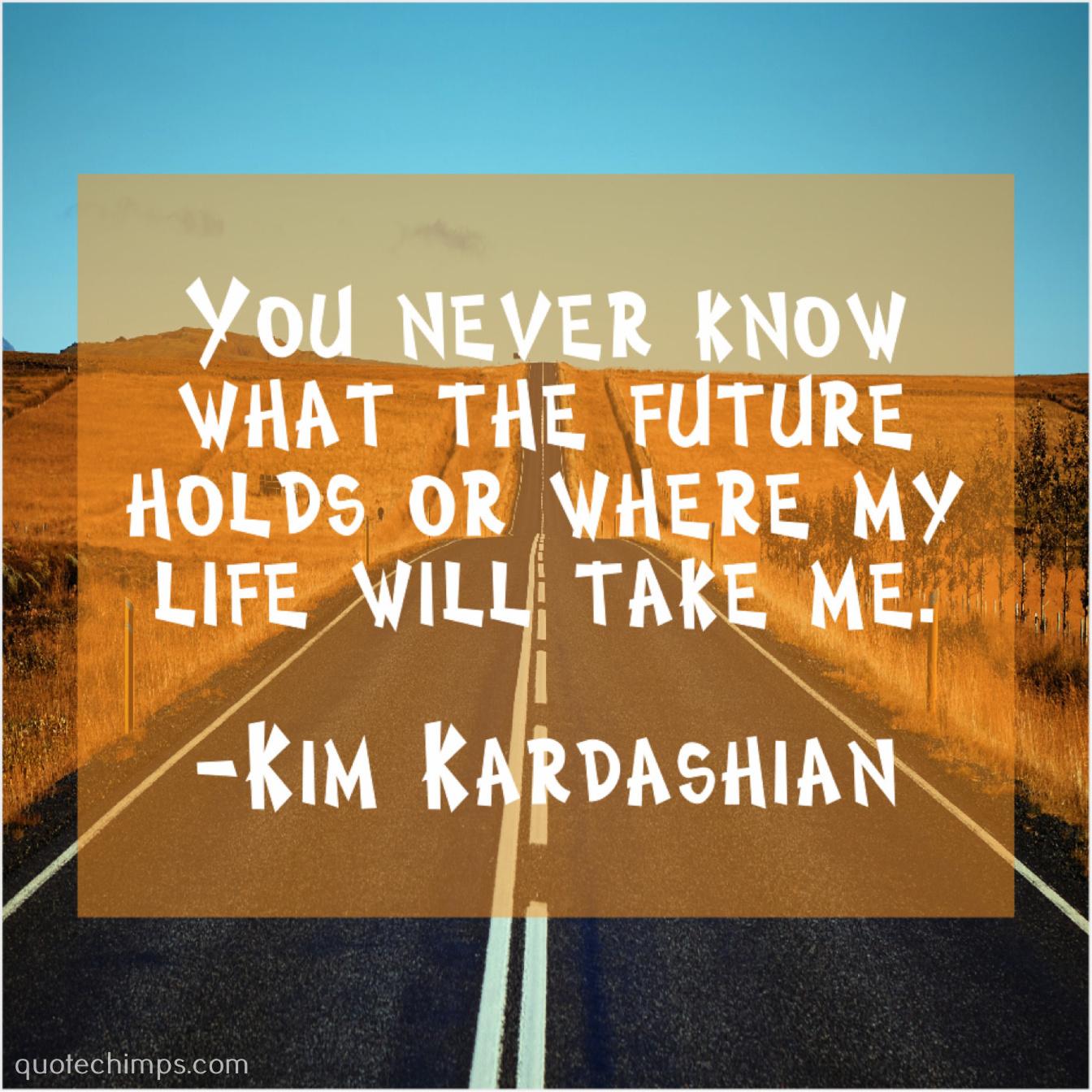 Kim Kardashian Quote Chimps