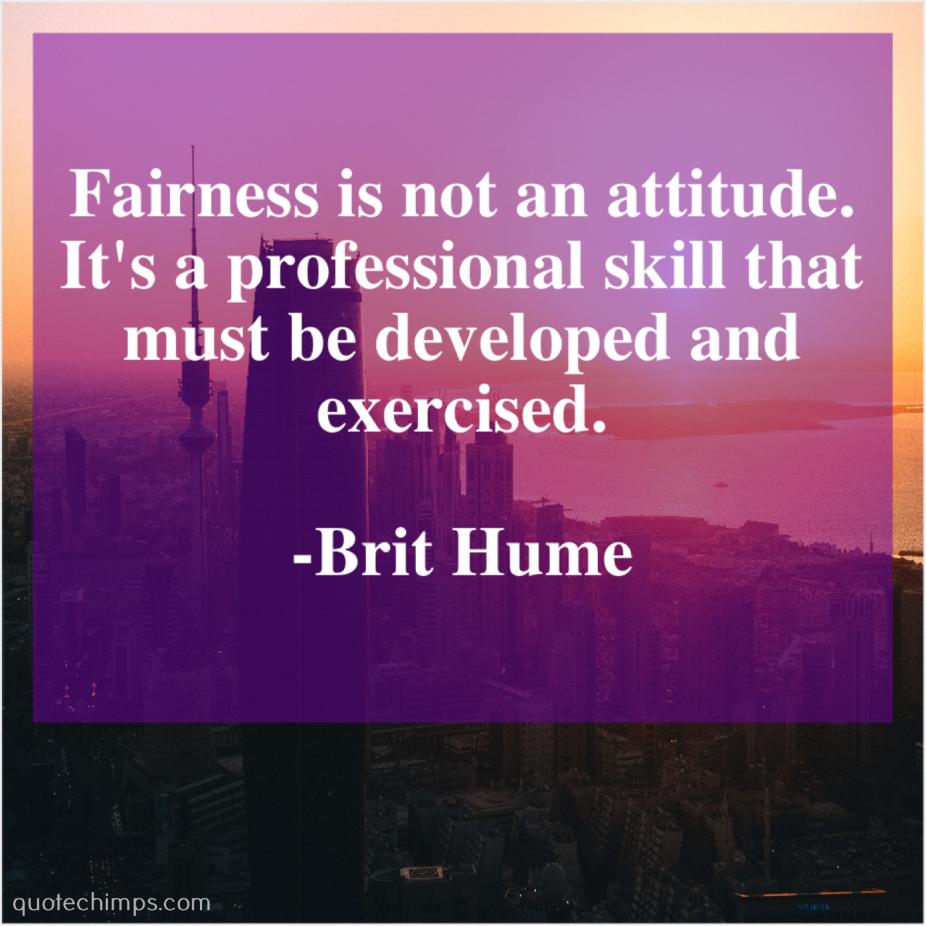 Brit Hume Fairness Is Not An Attitude