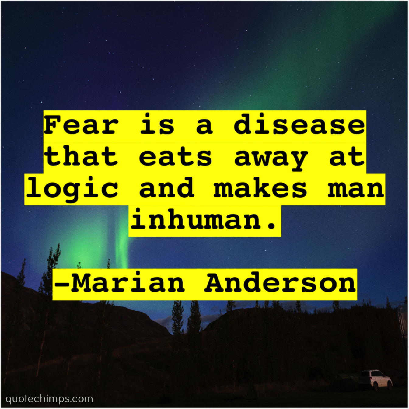 Marian Anderson Quote Chimps