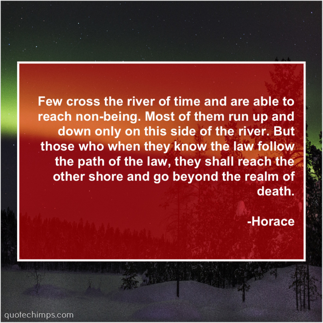 Horace Few Cross The River Of